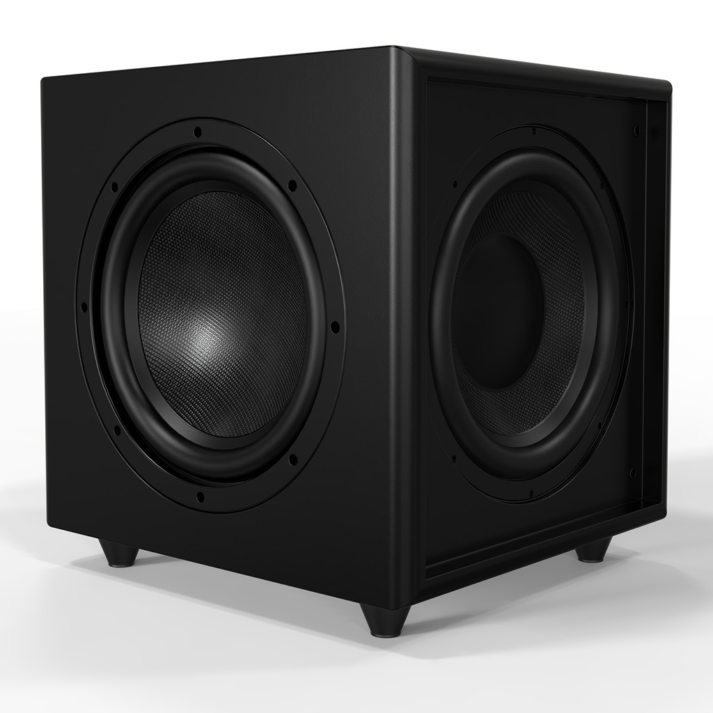 "Triple 10"" Dynamic Powered Subwoofer w 500W Of Power and 24K Gold-Plated Inputs - TreVoce10"