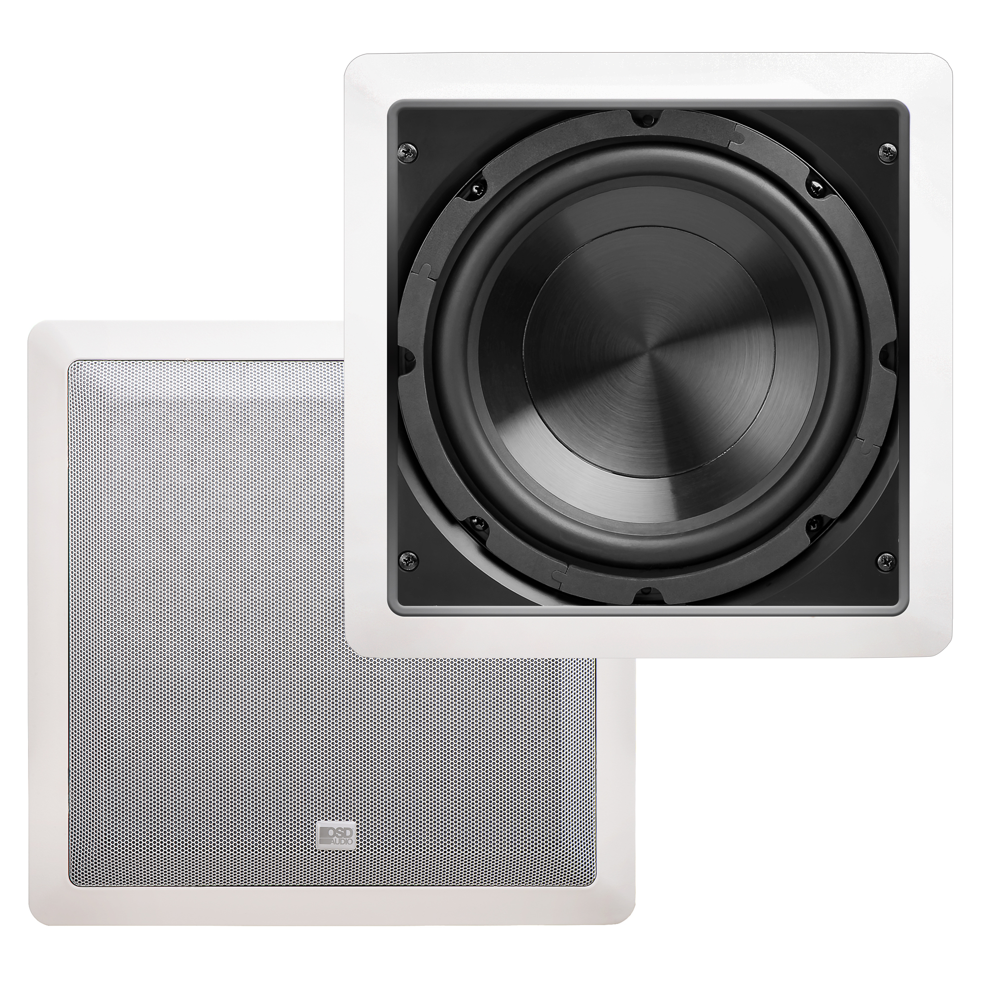 "8"" 150W Pro Series In-Wall Home Theater Subwoofer, Easy Install & Paintable Grille, Single - IWS8"