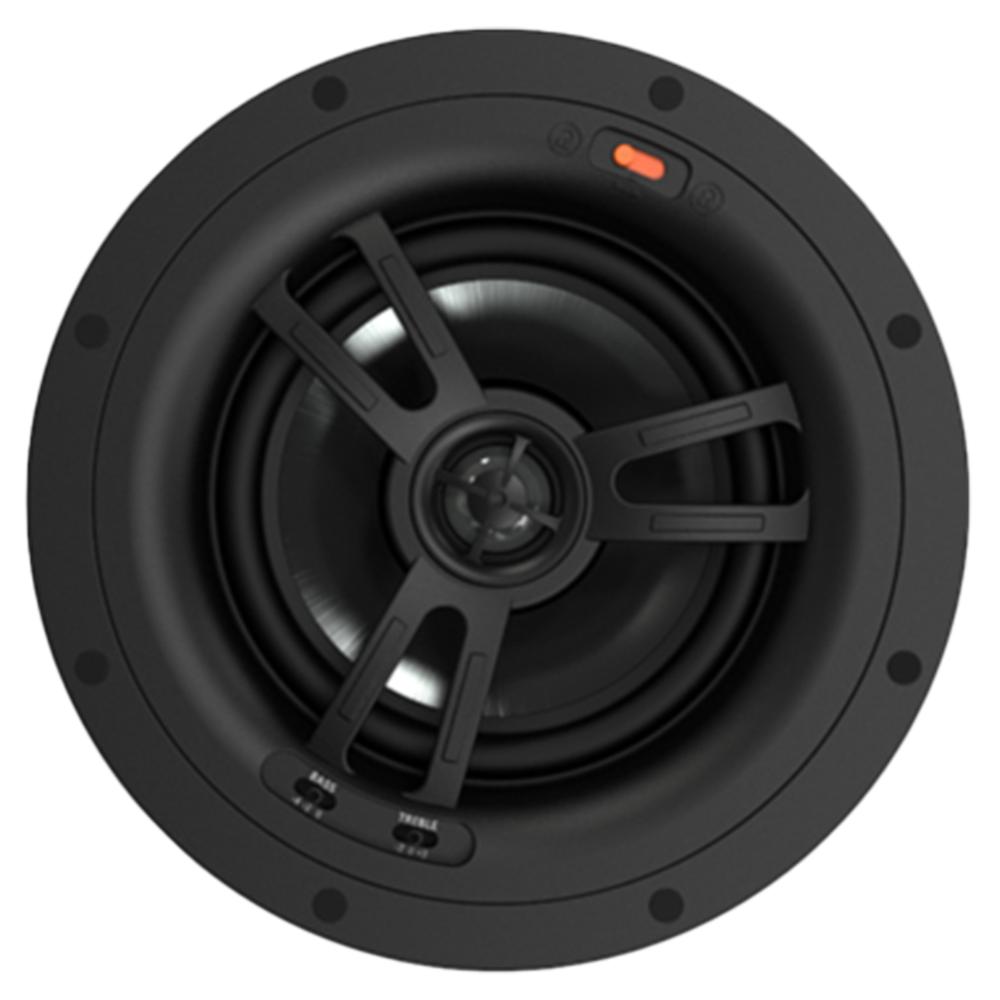"Black Series BK-R62EZ 6.5"" 2-Way In-Ceiling Speaker with Quick EZ Mounting System, Single"