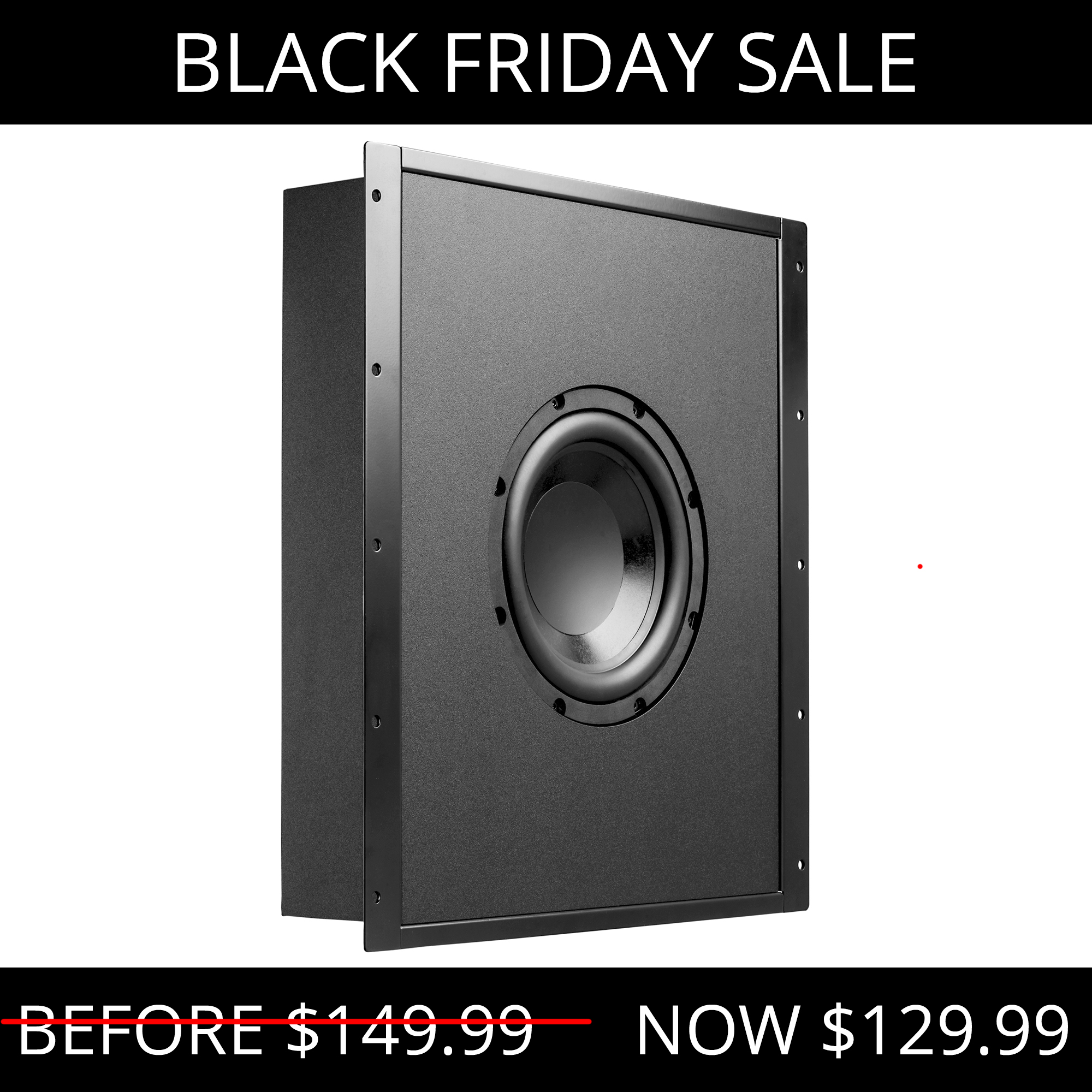 """8"""" Trimless In-Wall 200W Subwoofer w/ Sealed and Tuned Enclosure - NERO-FS800"""