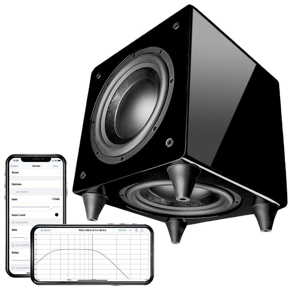 "Nero Dual X8 w/ DSP App Control 300W Powered Subwoofer w/ Dual Passive/Active 8"" Woofers"