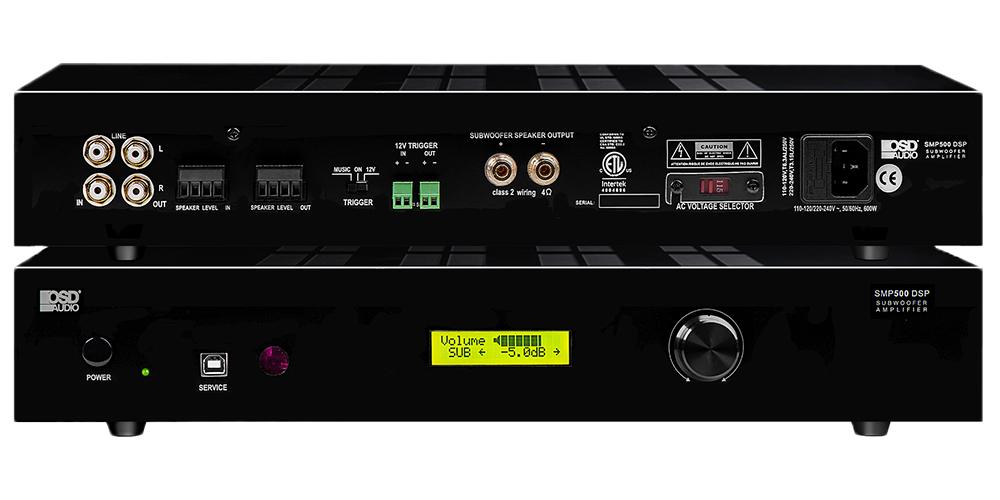 SMP500 DSP Mono-Channel Class D Subwoofer Amplifier 800W, Auto Sensing, 4 -8 Ohm ETL, CE Certified