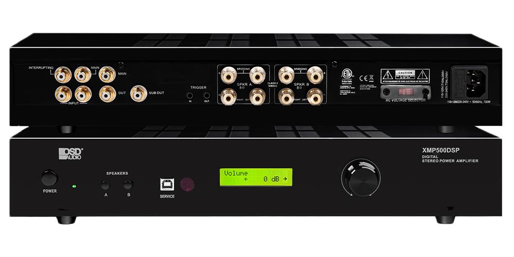 XMP500DSP 500 x 2 Bridgeable Class D Digital Stereo Power Amplifier w/ DSP & Priority Input