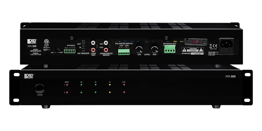 2-Channel 70/100V Class D Digital Commercial Amplifier – 500W Per Channel x 2 - XPA500