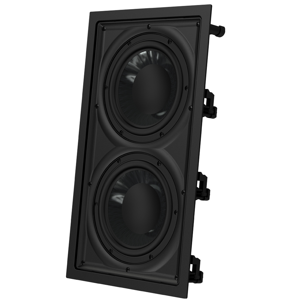 "OSD Black In Wall 300W Subwoofer Dual 8"" Graphite Cones Magnetic Grill IWSDual8"