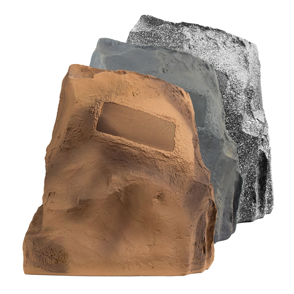 "OSD Audio 8"" Omni Rock Speaker 360° Outdoor Weather Resistant Single Brown, Grey, Slate"