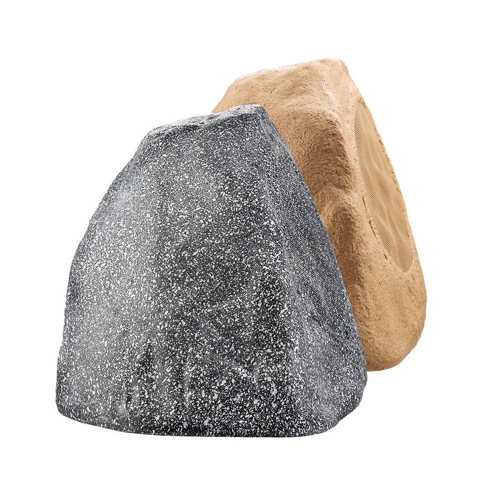 """8"""" 200W Outdoor Weather-Resistant High Performance Rock Speaker Pair, Brown or Granite Grey - RX805"""