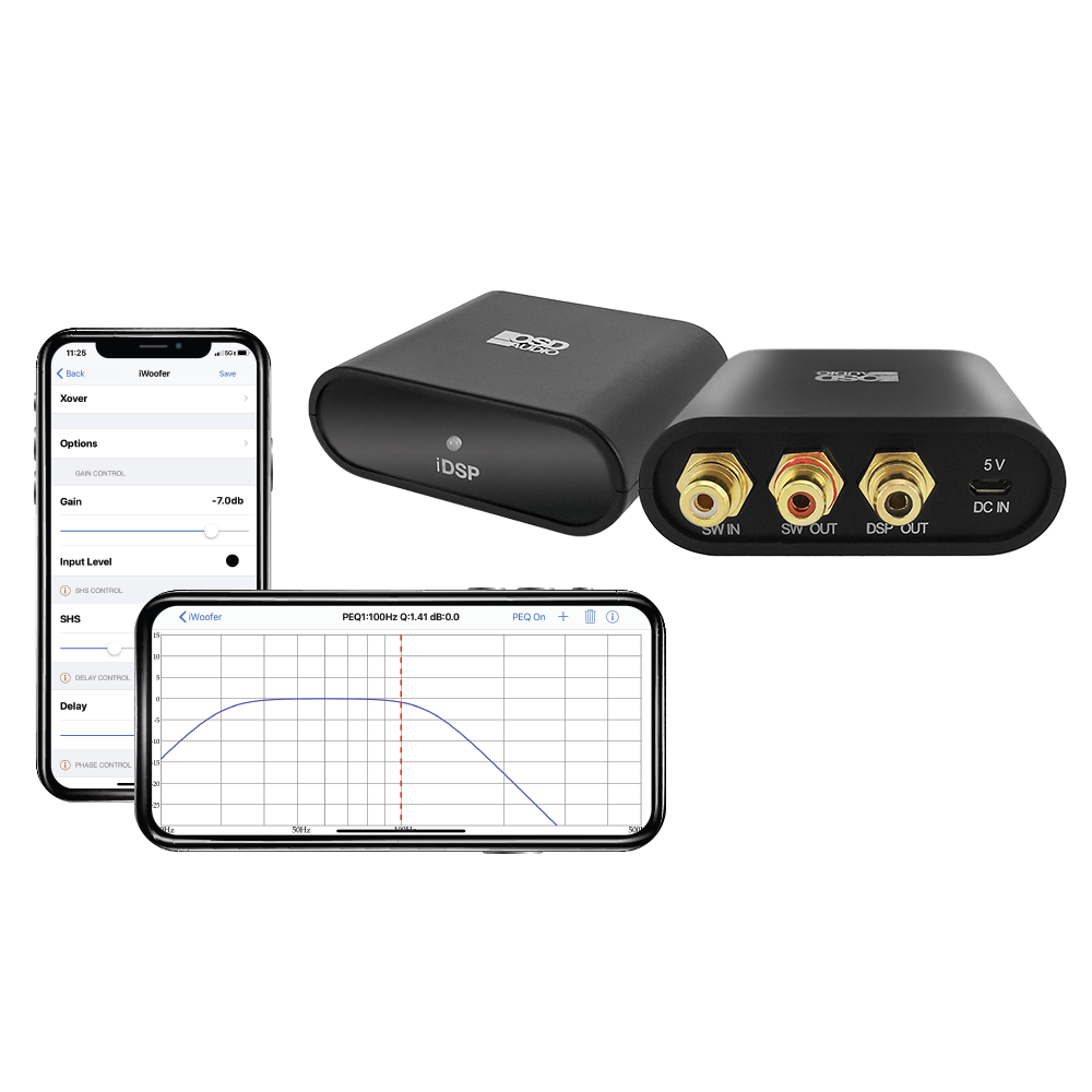 OSD DSP App EQ and Room Tuning Kit for Subwoofers and Full Range Speakers iPhone & Android iDSP