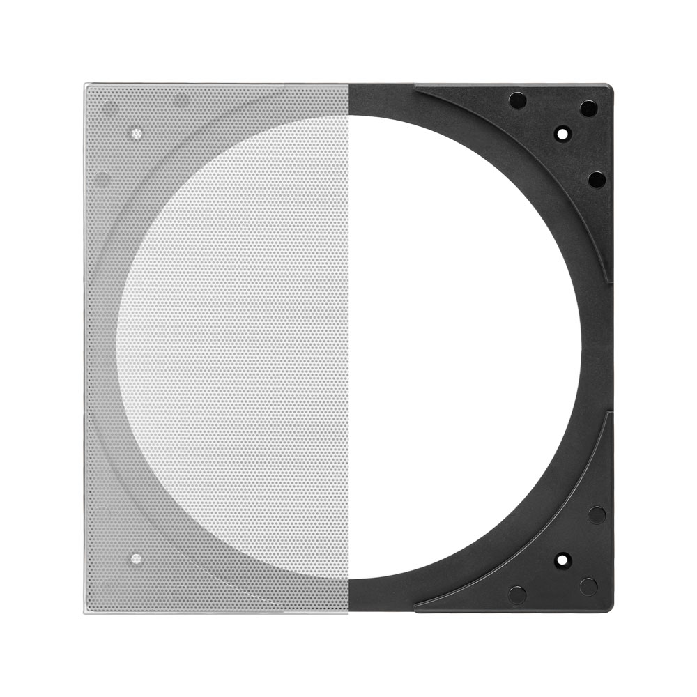 "OSD Audio SQ6 Square Trim-less Design Grill Kit for 5"" and 6.5"" Round In-ceiling Speakers"