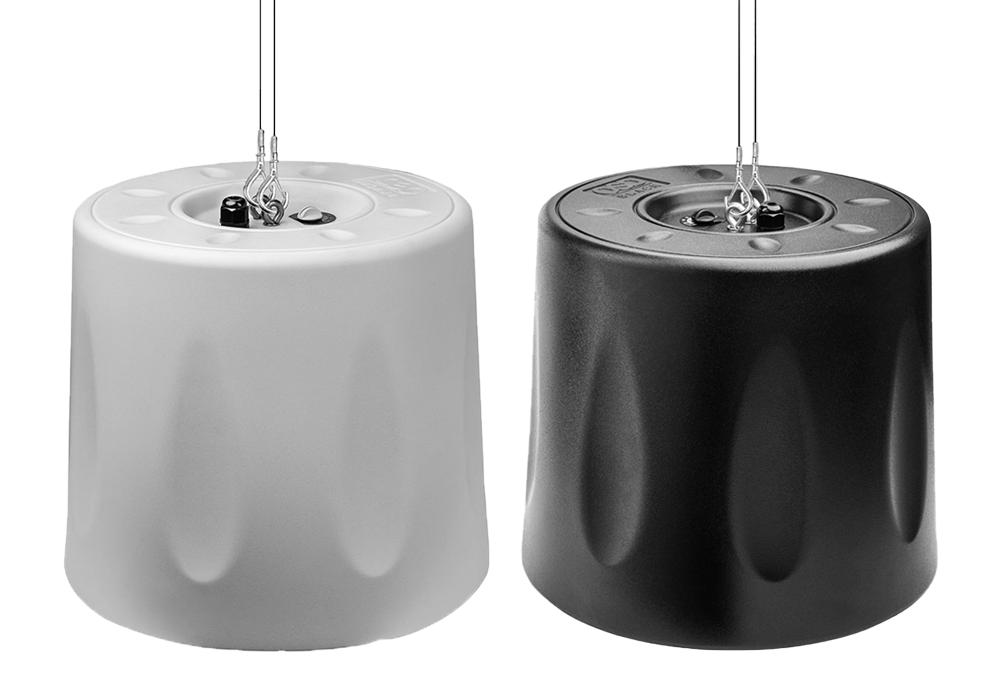 """Black Series 8"""" Pendant Hanging Speaker 70V/8ohm Single White/Black"""