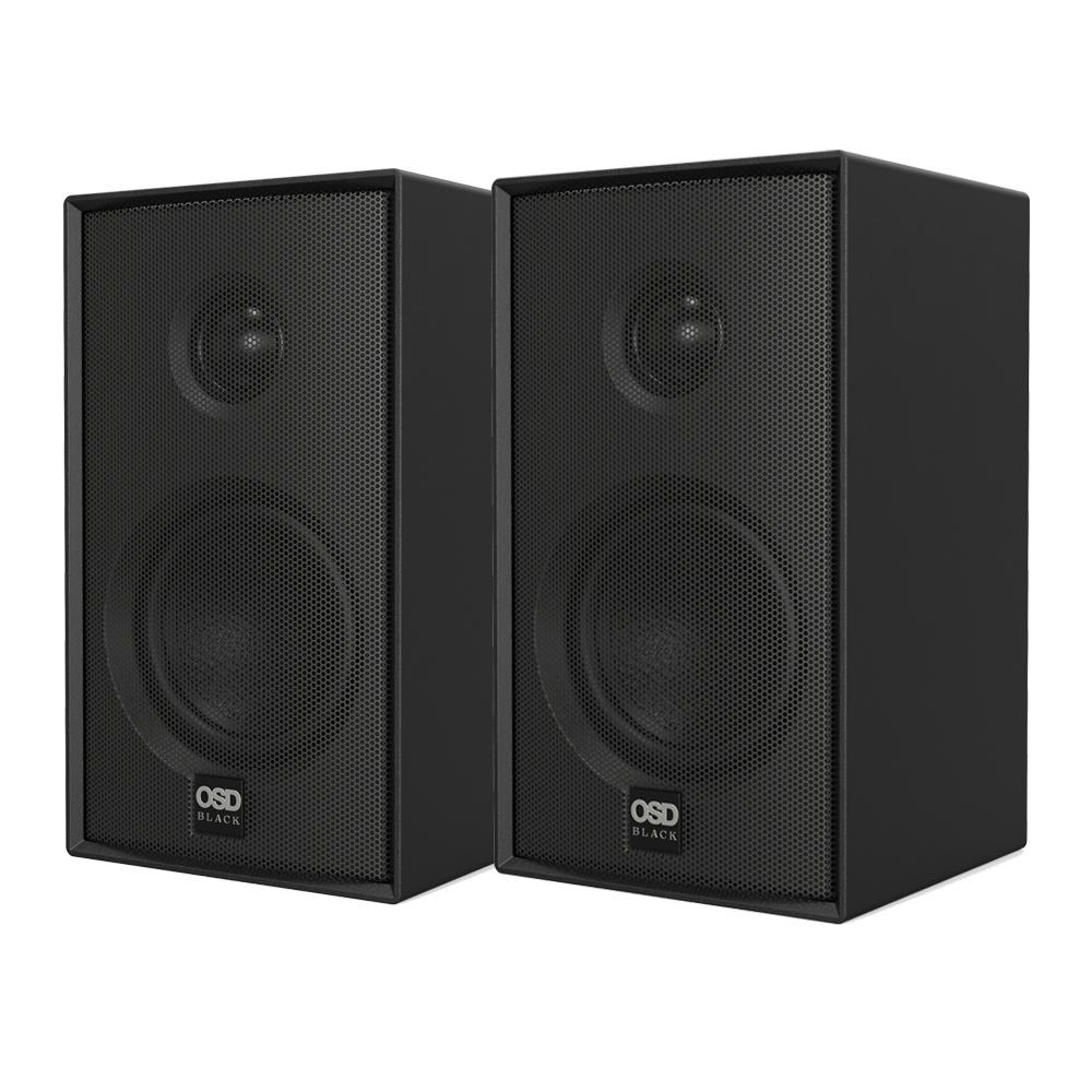 "OSD Nero MODQ2 Bookshelf Speaker Pair 100W, 3"" Glass Fiber Woofer, 1"" Silk Dome Tweeter"