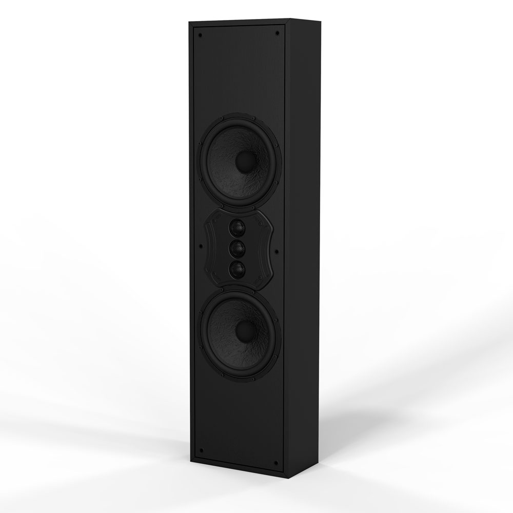 "S82 MK2 Triple Tweeter On-Wall Speaker Custom Crossover and 8"" Fiber Inter-Weave Woofer"