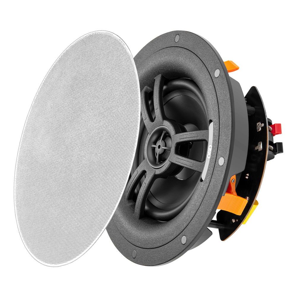 """Black Series BK-R61EZ 6.5"""" 2-Way In-Ceiling Speaker with Quick EZ Mounting System, Single"""