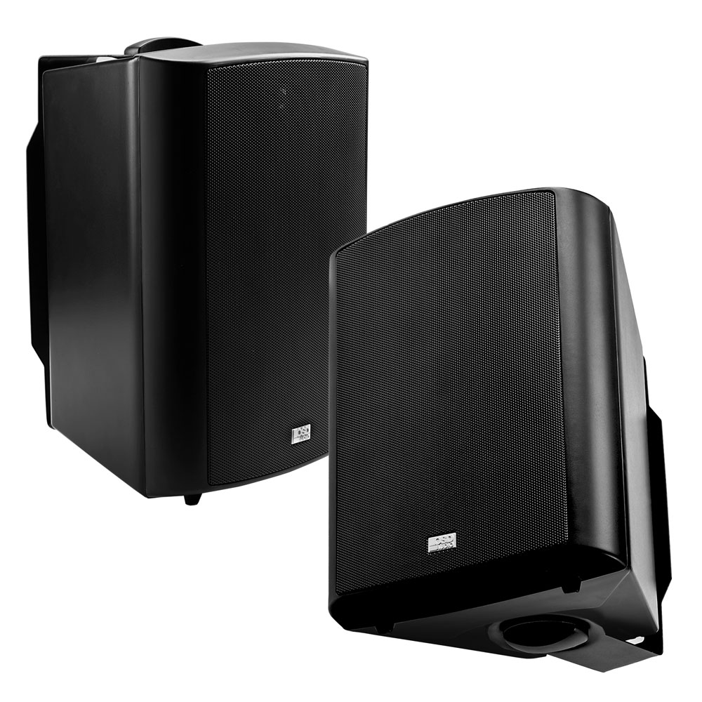 "5.25"" High Performance Outdoor Patio Speaker Pair w/ Optional 70V, White or Black - AP520"