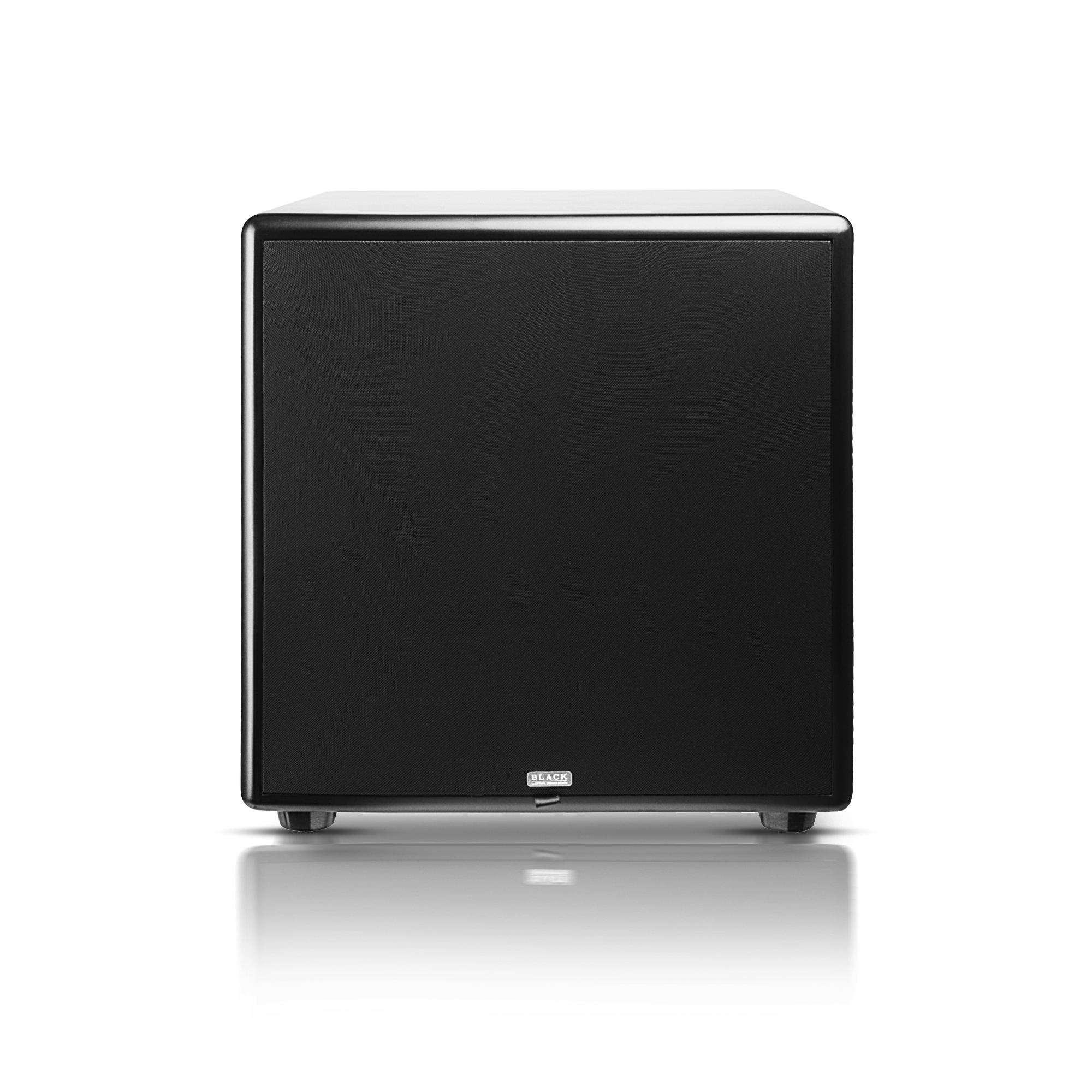 "12"" High Definition Powered 300W Home Theater Subwoofer Black Wood Veneer, Single Drive - Acoustic12"