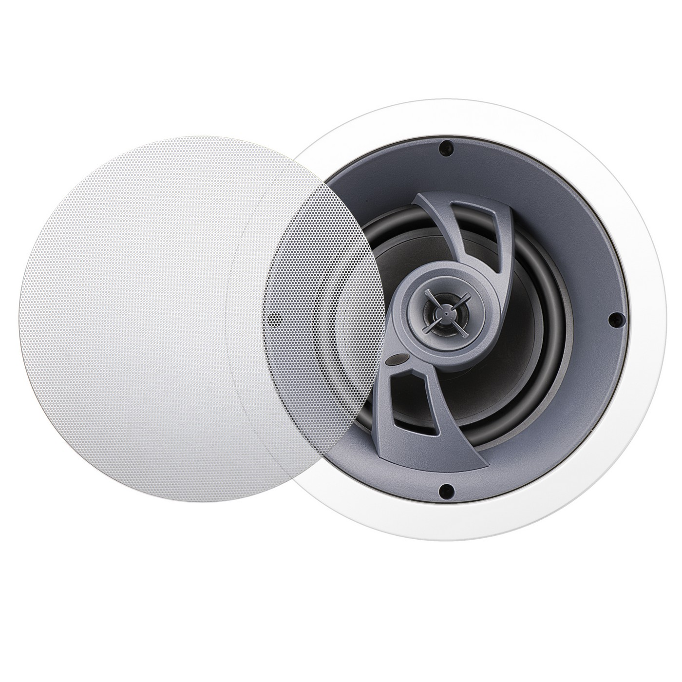 """6.5"""" Angled LCR Dolby Atmos® Ready In-Ceiling Speaker w/ Pivoting Tweeter, Single - ICE630"""