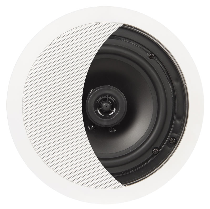 """6.5"""" Contract Series 120W Flush Mount 2-Way In-Ceiling Speaker Pair - ICE610"""