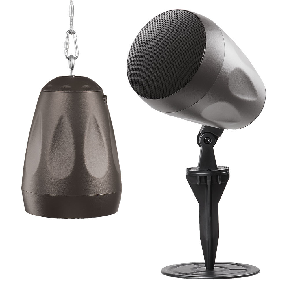 "6.5"" Pendant Speaker 100W, IP66 Outdoor Rated, 8Ohms/70V Optional Landscape Kit - Forza-6S"
