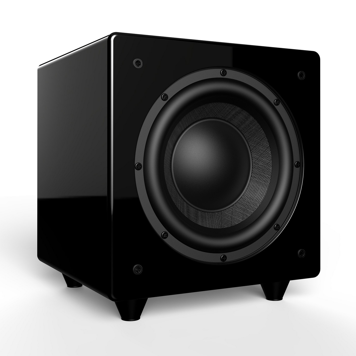 """8"""" Dynamic 300W Powered Subwoofer w/ Active & Passive Woofers, Gold-Plated Inputs - Nero Dual X8"""