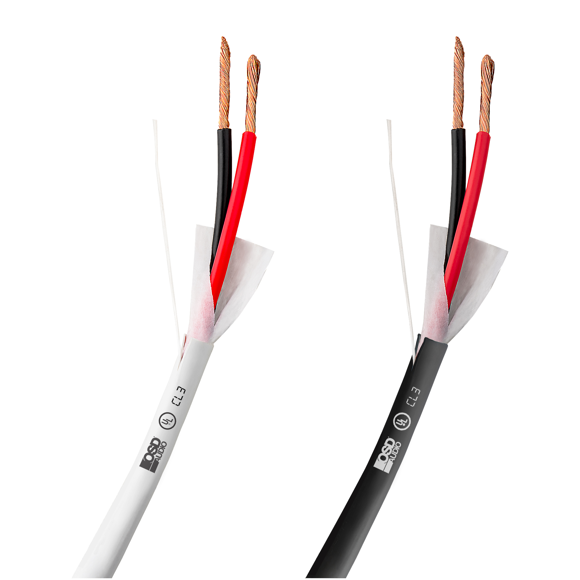 50FT 14 Gauge Speaker Wire Cable Audio 2 Conductor Pure Copper In-Wall Plenum