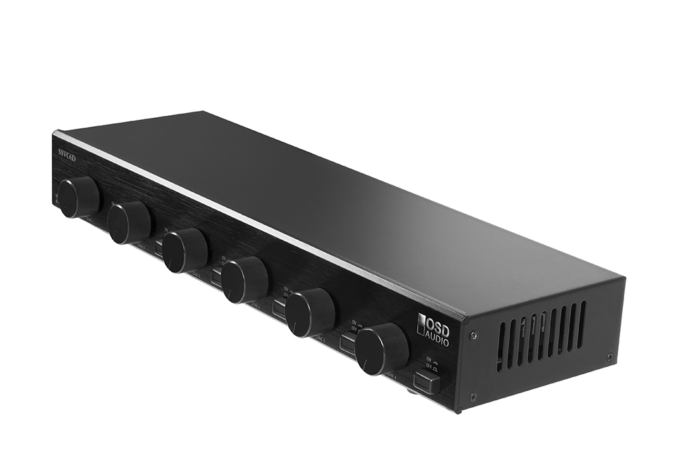 SSVC6D 300W Dual Source and Volume Control OSD Audio 6-Zone Speaker Selector