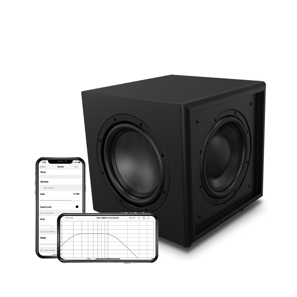 """OSD Trevoce 8 EQ DSP - 8"""" Triple Driver Powered Subwoofer 300W, DSP App Control, Faux Leather"""